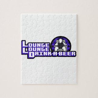 Bebida de lujo del salón del salón una cerveza puzzle