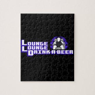 Bebida de lujo del salón del salón una cerveza puzzles