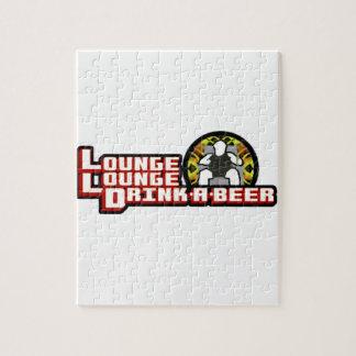 Bebida de lujo del salón del salón una cerveza puzzle con fotos