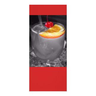 """Bebida del cóctel de la hora feliz invitación 4"""" x 9.25"""""""