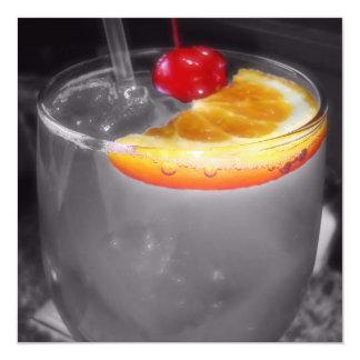 """Bebida del cóctel de la hora feliz invitación 5.25"""" x 5.25"""""""