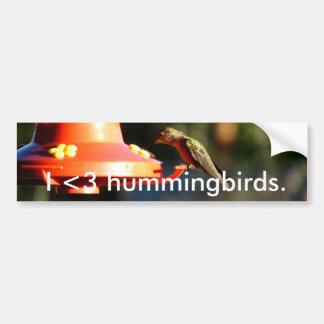 Bebida del colibrí pegatina para auto