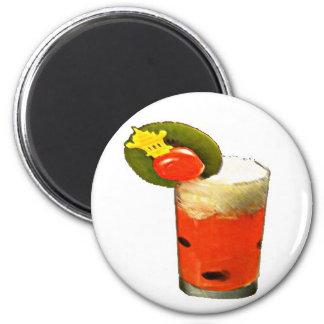 Bebida del melón imán redondo 5 cm
