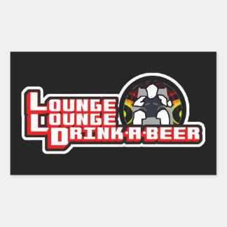 Bebida del salón del salón una cerveza pegatina rectangular