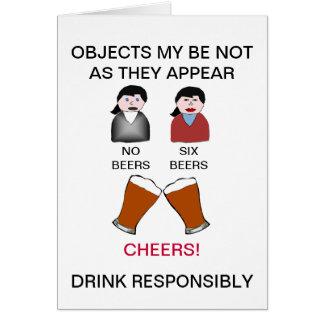 Bebida divertida que bebe responsable la tarjeta