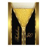 Bebida elegante 2 de la cerveza del oro de la crem invitaciones personales