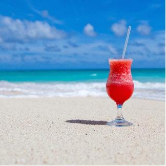 Bebida en la playa esculturas fotograficas
