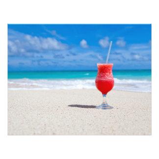"""Bebida en los aviadores de la playa folleto 8.5"""" x 11"""""""