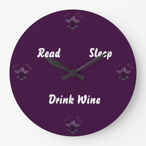 Bebida leída Wine~grape del sueño Reloj Redondo Grande