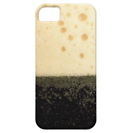 Bebida oscura con la caja de la espuma iPhone 5 Case-Mate protector