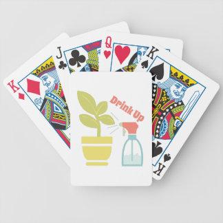 Bebida para arriba barajas de cartas