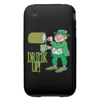 Bebida para arriba tough iPhone 3 protector