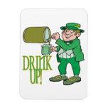 Bebida para arriba iman de vinilo
