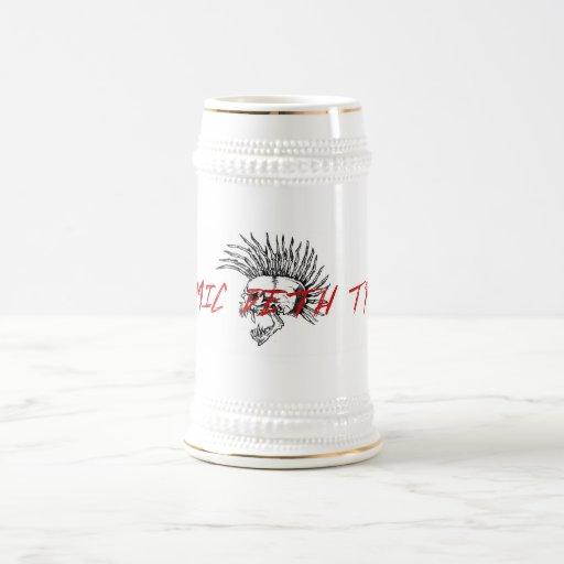 ¡bebida para arriba! jarra de cerveza