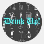 ¡Bebida para arriba! - Modificado para requisitos  Pegatina Redonda