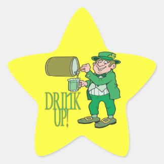 Bebida para arriba calcomanía forma de estrella personalizada