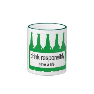 Bebida responsable - ahorre una taza de la vida