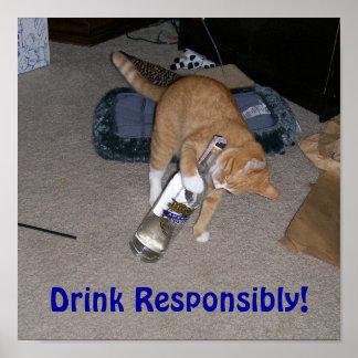 ¡Bebida responsable! Póster