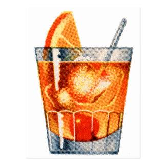 Bebida retra del cóctel del kitsch del vintage pas postales