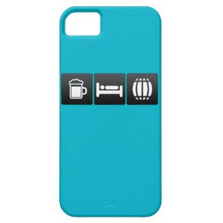 Bebida, sueño y barriles iPhone 5 funda