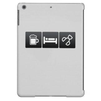 Bebida, sueño y bigudíes de las pestañas funda para iPad air