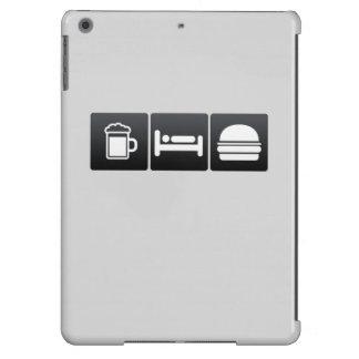 Bebida, sueño y cheeseburgers funda para iPad air