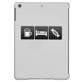 Bebida, sueño y embutidoras de la media funda para iPad air