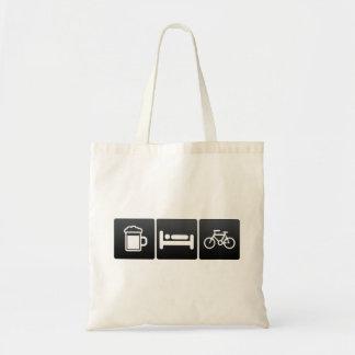 Bebida, sueño y jinetes de la bicicleta bolsa tela barata