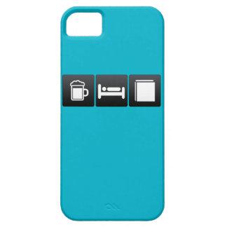 Bebida, sueño y librerías iPhone 5 carcasas