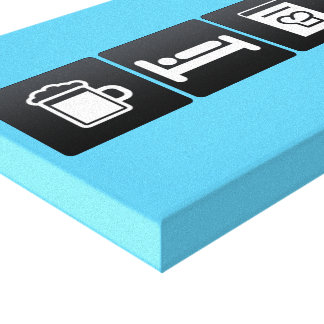 Bebida, sueño y libros el cocinar impresión en tela