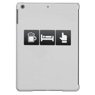 Bebida, sueño y luz verde funda para iPad air