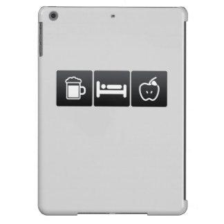 Bebida, sueño y manzanas del granny smith funda para iPad air