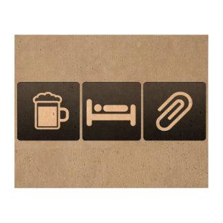 Bebida, sueño y materiales de oficina impresión en corcho