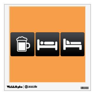 Bebida, sueño y muebles