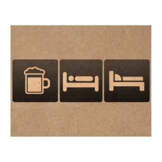 Bebida, sueño y muebles papel de corcho