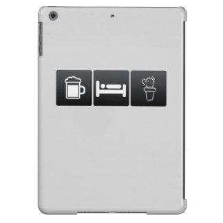 Bebida, sueño y plantas de la casa funda para iPad air