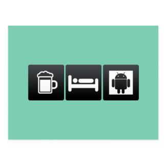 Bebida, sueño y robots postales