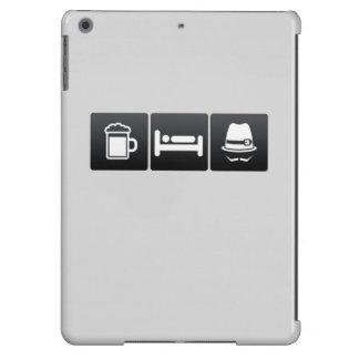 Bebida, sueño y sombreros de ala funda para iPad air