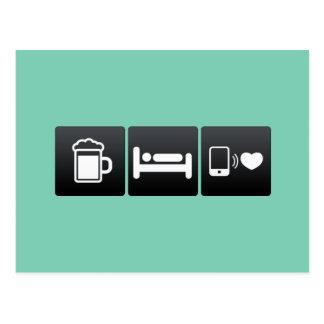 Bebida, sueño y teléfonos de Smart Postal