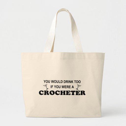 Bebida también - Crocheter Bolsas