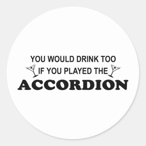 Bebida también etiquetas redondas