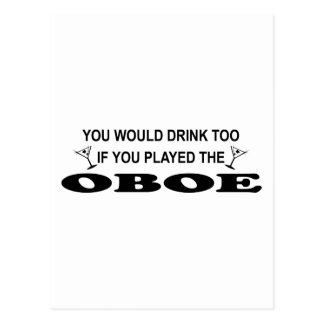 Bebida también - Oboe Tarjetas Postales