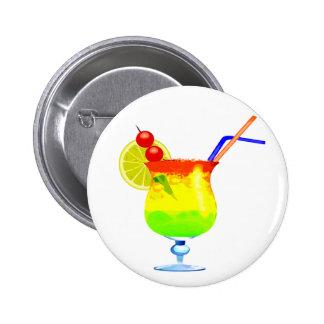 Bebida tropical de los arco iris pin