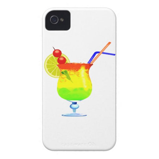 Bebida tropical del arco iris Case-Mate iPhone 4 funda