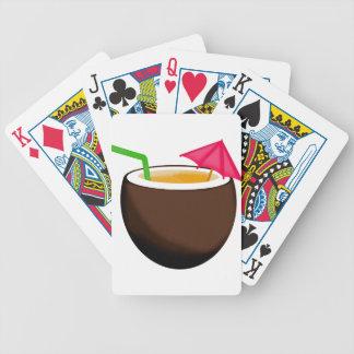 Bebida tropical del coco baraja de cartas
