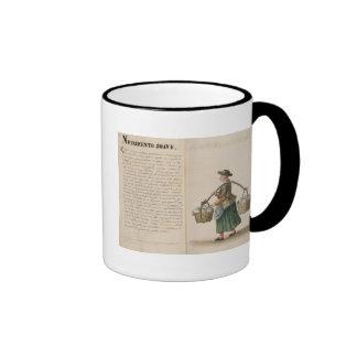 Bebida-vendedor, veneciano (manuscrito) tazas