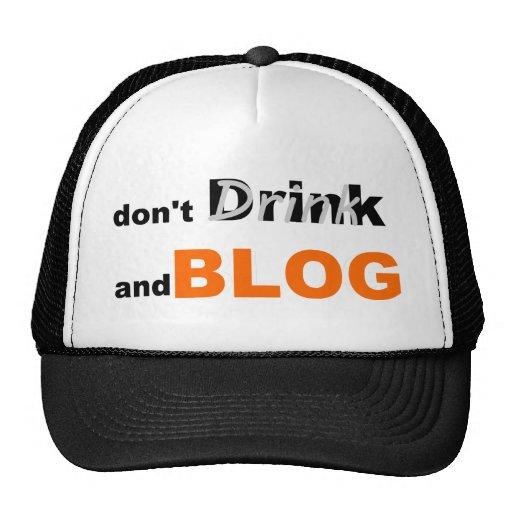 Bebida y blog de las citas del blog gorros