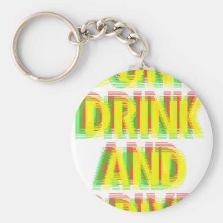 Bebida y impulsión llavero redondo tipo pin