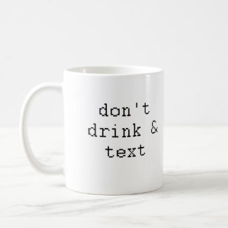 Bebida y texto de Don'g Taza Básica Blanca