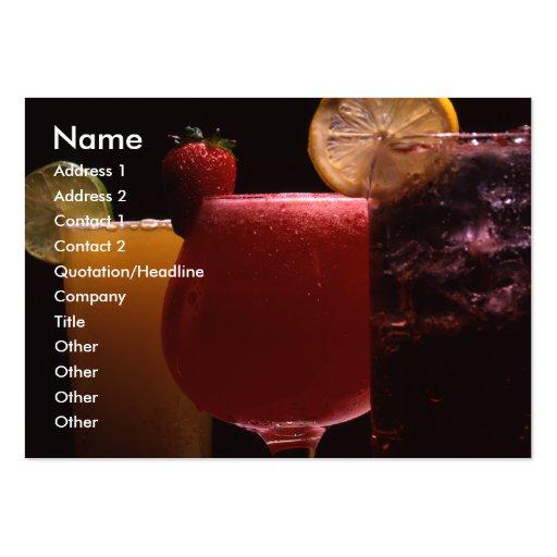 Bebidas 1 tarjeta tarjetas de visita